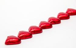 Καρδιές σοκολάτας Στοκ Φωτογραφίες