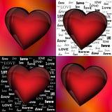 Καρδιές στα διαφορετικά υπόβαθρα Στοκ φωτογραφία με δικαίωμα ελεύθερης χρήσης