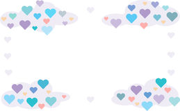 Καρδιές στα σύννεφα διανυσματική απεικόνιση