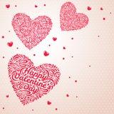 Καρδιές στο ελαφρύ υπόβαθρο Στοκ Εικόνα