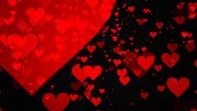 Καρδιές στο μαύρο υπόβαθρο ελεύθερη απεικόνιση δικαιώματος