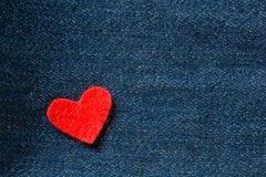 Καρδιές στο υπόβαθρο τζιν Στοκ φωτογραφία με δικαίωμα ελεύθερης χρήσης