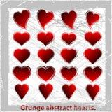 Καρδιές συνόλου grunge. Στοκ φωτογραφία με δικαίωμα ελεύθερης χρήσης