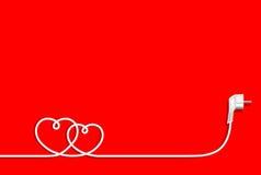 Καρδιές του ηλεκτρικού καλωδίου Στοκ φωτογραφίες με δικαίωμα ελεύθερης χρήσης