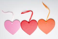 καρδιές τρία βαλεντίνος Στοκ εικόνες με δικαίωμα ελεύθερης χρήσης