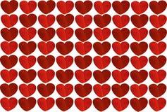 Καρδιές υποβάθρου βαλεντίνος ημέρας s Κάρτα Μπορείτε να κολλήσετε το κείμενο Στοκ Εικόνες