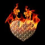 Καρδιές υποβάθρου του χάλυβα Στοκ φωτογραφία με δικαίωμα ελεύθερης χρήσης