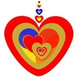 καρδιές χρώματος Στοκ Εικόνες