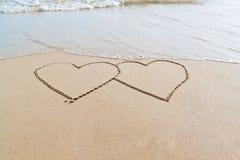 καρδιές δύο παραλιών Στοκ Φωτογραφίες