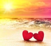 καρδιές δύο παραλιών Στοκ φωτογραφία με δικαίωμα ελεύθερης χρήσης