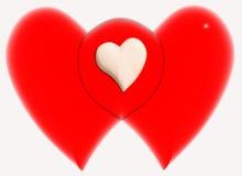 3 καρδιές Στοκ φωτογραφία με δικαίωμα ελεύθερης χρήσης