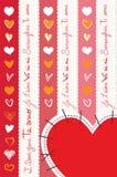 Καρδιές Coeurs Corazones Στοκ εικόνα με δικαίωμα ελεύθερης χρήσης