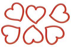 Καρδιές Deco Στοκ Εικόνα