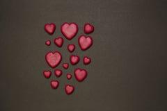 Καρδιές Plasticine Στοκ Φωτογραφία