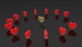 Καρδιές Runaround - χορεύοντας καρδιά. Στοκ φωτογραφίες με δικαίωμα ελεύθερης χρήσης