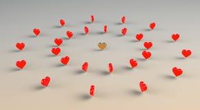 Καρδιές Runaround - χορεύοντας καρδιά. Στοκ φωτογραφία με δικαίωμα ελεύθερης χρήσης