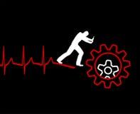 Καρδιακός θάνατος διανυσματική απεικόνιση