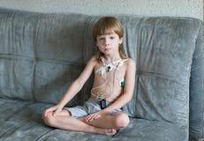 Καρδιογράφημα καρδιών που χρησιμοποιεί Holter Στοκ Φωτογραφίες