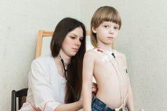 Καρδιογράφημα της καρδιάς, holter Στοκ φωτογραφία με δικαίωμα ελεύθερης χρήσης