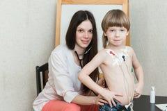 Καρδιογράφημα της καρδιάς, holter Στοκ Εικόνες