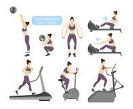 Καρδιο ασκήσεις workout Στοκ Εικόνες