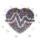 Καρδιο ιατρική καρδιών ανθρώπων τρισδιάστατη Στοκ Εικόνες