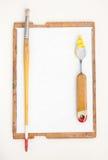 Κασέτα για την περίπτωση του ζωγράφου με τα όργανα Στοκ φωτογραφία με δικαίωμα ελεύθερης χρήσης
