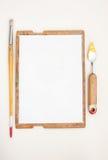 Κασέτα για την περίπτωση του ζωγράφου με τα όργανα Στοκ Φωτογραφία