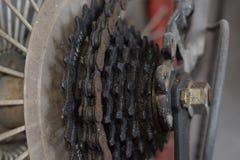 Κασέτα και αλυσίδα κύκλων Στοκ Φωτογραφίες