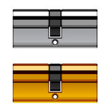 Κασέτα κυλίνδρων κλειδαριών πορτών Στοκ φωτογραφία με δικαίωμα ελεύθερης χρήσης