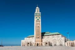 Κασαμπλάνκα Hassan ΙΙ μουσουλμανικό τέμενος του Μαρόκου Στοκ φωτογραφία με δικαίωμα ελεύθερης χρήσης