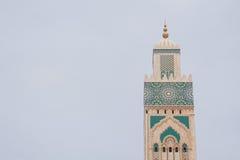 Κασαμπλάνκα Hassan ΙΙ μουσουλμανικό τέμενος Στοκ Φωτογραφίες