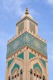Κασαμπλάνκα Hassan ΙΙ μουσουλμανικό τέμενος Στοκ Εικόνες