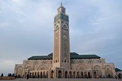 Κασαμπλάνκα Hassan ΙΙ μουσουλμανικό τέμενος Στοκ φωτογραφία με δικαίωμα ελεύθερης χρήσης