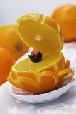 Κασετίνα από ένα πορτοκάλι Στοκ Εικόνες
