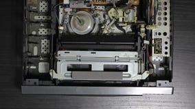 Κασετόφωνο τηλεοπτική VHS μέσα απόθεμα βίντεο
