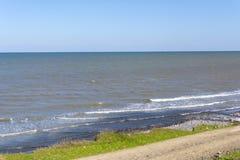 Κασπία Θάλασσα, ακτή, κυματωγή Στοκ Εικόνες