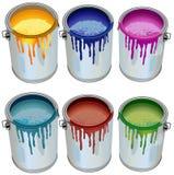 κασσίτεροι χρωμάτων απεικόνιση αποθεμάτων