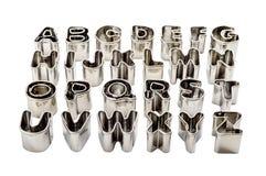 Κασσίτεροι ψησίματος αλφάβητου Στοκ Εικόνες