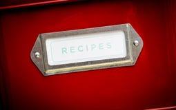 κασσίτερος αποθήκευσης συνταγών στοκ εικόνες με δικαίωμα ελεύθερης χρήσης