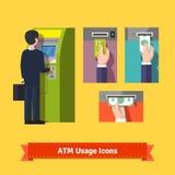 Κατάθεση μηχανών του ATM Στοκ εικόνα με δικαίωμα ελεύθερης χρήσης