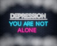 Κατάθλιψη εγγραφής νέου εσείς ` σχετικά με όχι μόνο Κινητήριο απόσπασμα διανυσματική απεικόνιση