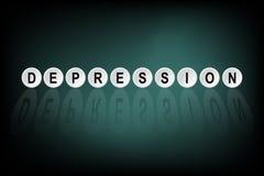 Κατάθλιψη λέξης που γράφεται πλήκτρο τα ΟΝ απεικόνιση αποθεμάτων
