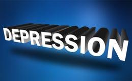 Κατάθλιψη διανυσματική απεικόνιση