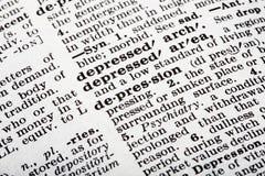 κατάθλιψη στοκ εικόνα