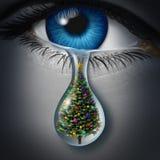 Κατάθλιψη διακοπών διανυσματική απεικόνιση