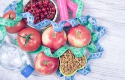 Κατάλληλη διατροφή Υγιεινή διατροφή, απώλεια βάρους - έννοια της υγιούς κατανάλωσης Στοκ Φωτογραφία