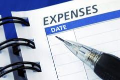 κατάλογος δαπανών έξω Στοκ Φωτογραφία