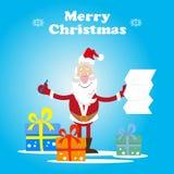 Κατάλογος δώρων Santa διανυσματική απεικόνιση