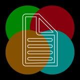 Κατάλογος εγγράφων - εικονίδιο εγγράφου - σύμβολο ιστοσελίδας διανυσματική απεικόνιση